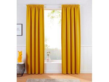 Home affaire Vorhang »Brighton«, Multifunktionsband (1 Stück), gelb, goldfarben
