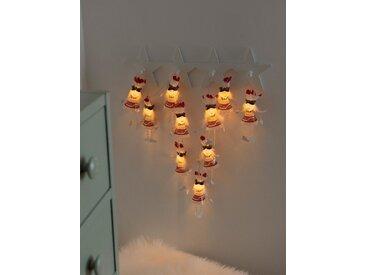 KONSTSMIDE LED Dekolichterkette, weiß, Lichtquelle warm-weiß, Weiß