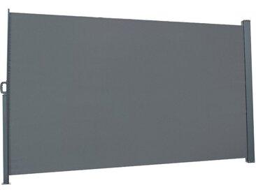 FCH Seitenmarkise Seitenmarkise Seitenwandmarkise Markise Sichtschutz Windschutz Sonnenschutz Balkon 300x160cm, grau, Dunkelgrau