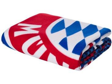 FC Bayern München Wohndecke » Fleecedecke Fan navy Mia san«