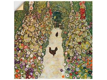 Artland Wandbild »Gartenweg mit Hühnern«, Vögel (1 Stück), Wandaufkleber - Vinyl