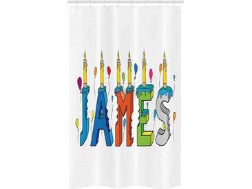 Abakuhaus Duschvorhang »Badezimmer Deko Set aus Stoff mit Haken« Breite 120 cm, Höhe 180 cm, James Geburtstags-Kerze Muster