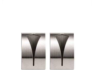 BigDean Handtuchhaken »Selbstklebend aus rostfreiem Edelstahl geeignet für Bad und Küche«, (2-St), 2 St.