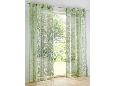 heine home Dekostore Ausbrenner, grün, mit Ösen, grün