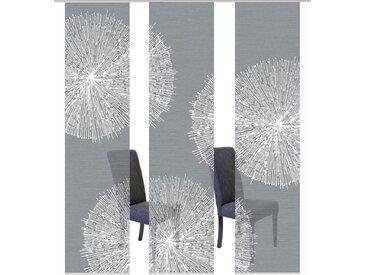 Vision S Schiebegardine »3ER SET CRESTON«, Paneelwagen (3 Stück), HxB: 260x60, Schiebevorhang 3er Set Digitaldruck, grau, grau