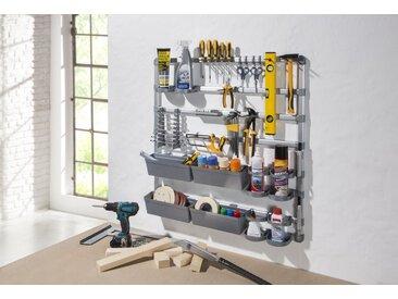 Ruco Ablageregal, Aluminium/Kunststoff, ideal für Werkstatt, Garage oder Hobbyraum