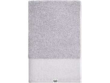 Calvin Klein home Handtücher »Riverstone« (2-St), aus Bio Baumwolle, grau, grau