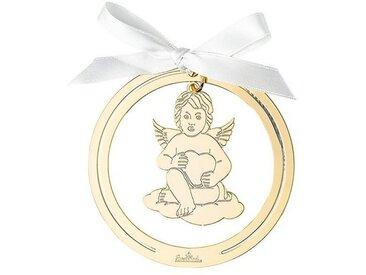 Rosenthal Christbaumschmuck »Silver Collection Angels Gold Engel Anhänger rund« (1-tlg), Engel mit Herz