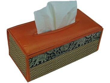 Guru-Shop Aufbewahrungsdose »Kosmetiktücher Servietten Box aus Rattan in..«, braun, orange-braun