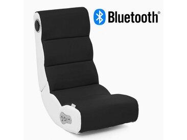 Wohnling Gaming Chair »WL8.016BT« ® Soundchair WOBBLE in Schwarz Weiß mit Bluetooth Musiksessel mit eingebauten Lautsprechern Multimediasessel für Gamer 2.1 Soundsystem - Subwoofer Music Gaming Sessel Rocker Chair