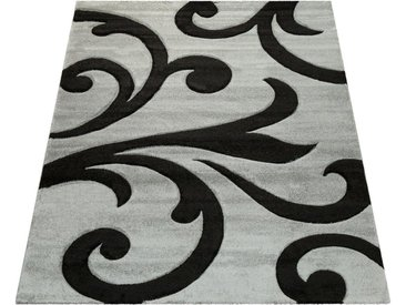 Paco Home Teppich »Diamond 761«, rechteckig, Höhe 18 mm, 3D-Design, Kurzflor mit Ornamenten, grau, grau