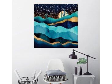Posterlounge Wandbild, Indigo Wüstennacht, Premium-Poster