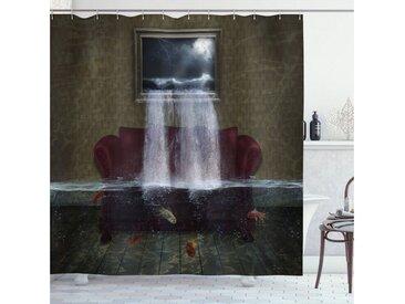 Abakuhaus Duschvorhang »Moderner Digitaldruck mit 12 Haken auf Stoff Wasser Resistent« Breite 175 cm, Höhe 180 cm, Surreal Imaginary Aquarium Zimmer