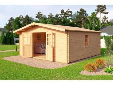 Outdoor Life Products Gartenhaus »Nienstedten 3«, BxT: 508x438 cm, natur, naturbelassen, natur