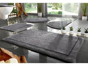 Home affaire Badematte »Kapra« , Höhe 10 mm, beidseitig nutzbar, Bio Baumwolle, grau, grau