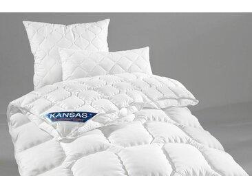 f.a.n. Frankenstolz Microfaserbettdecke, »Kansas«, 4-Jahreszeiten, Füllung: Polyesterfaser, Bezug: 100% Polyester, (1-tlg)