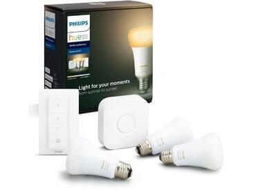Philips Hue »White Ambiance 3er Starter Set 3x806lm Dimmschalter« LED-Leuchtmittel, E27, Warmweiß, Tageslichtweiß, Neutralweiß, Extra-Warmweiß