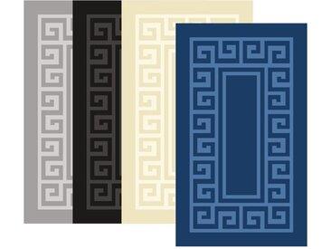 Hoffmanns Badematte »2tlg. Badezimmergarnitur 60x100 + 50x60 Badematte Badteppich Rutschfest Badvorleger« , schwarz, Schwarz