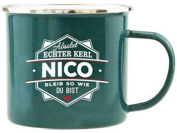 HTI-Living Becher »Echter Kerl Emaille Becher Nico«