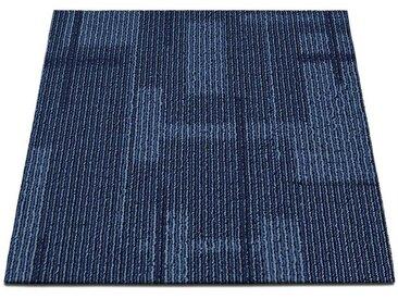 casa pura Teppichfliese »Andorra«, Quadratisch, Höhe 6 mm, Selbstliegend, blau, Blau 05