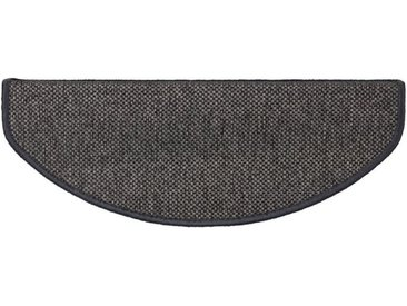 Kubus Stufenmatte »Haifa«, Halbrund, Höhe 3.5 mm, Sisal-Optik, schwarz, Anthrazit