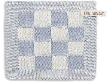 Knit Factory Tischdecke »Topflappen Block Ecru/Grau«