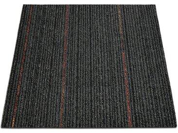 casa pura Teppichfliese »Berlin«, Quadratisch, Höhe 6 mm, Selbstliegend, schwarz, Anthrazit K5