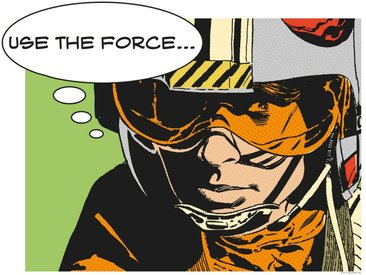 Komar KOMAR Wanddekoration »Star Wars Classic Comic Quote Luke«, ohne Rahmen, bunt, 50 cm, bunt