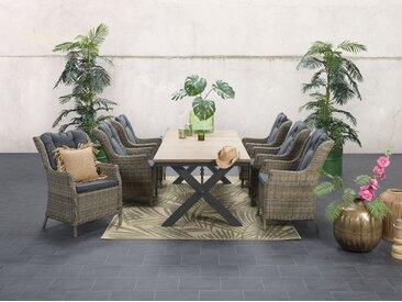 GMD Living Outdoorteppich »NATURALIS«, rechteckig, Höhe 5 mm, In- und Outdoor geeignet, grün, tropical leaf