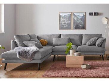 andas Ecksofa »Gondola«, skandinavisches Design und edle Ausstrahlung, mit Holzbeinen, grau, grau