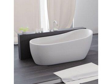 TroniTechnik Badewanne »Freistehende Badewanne Kasos«, (1-tlg), aus glasfaserversärktem Acryl, mit Überlauf-Ablauf und Push-to-open Abfluss