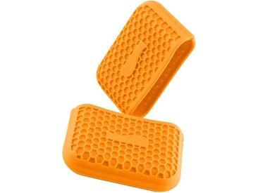 Kochblume Topfhandschuhe »Griffschutz«, (Set, 2-tlg), Hitzebeständig bis 230°, orange, orange