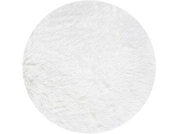 Andiamo Fellteppich »Ovium«, rund, Höhe 60 mm, Kunstfell, weiß, weiß