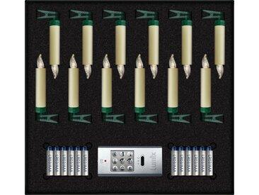 lumix LED-Christbaumkerzen »LUMIX SuperLight Mini«, Alle Batterien im Lieferumfang enthalten