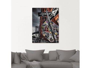 Artland Wandbild »New York Street Fotografie«, Amerika (1 Stück), in vielen Größen & Produktarten - Alubild / Outdoorbild für den Außenbereich, Leinwandbild, Poster