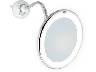 Lüllmann Schminkspiegel »LED Schminkspiegel 7-fach Saugnapf Make up Spiegel Kosmetikspiegel 7-fach Saugnapf« (1-St), - Spiegeldurchmesser: 17