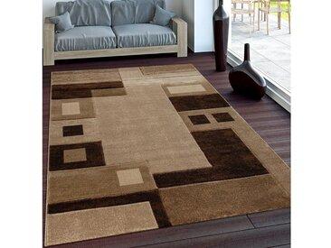 Paco Home Läufer »Florenz 8529«, rechteckig, Höhe 16 mm, Designer Teppich mit Konturenschnitt, braun, braun