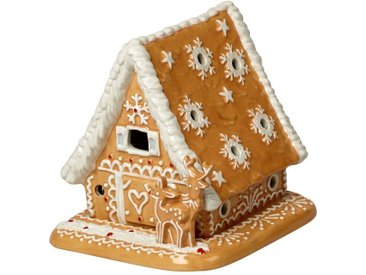 Villeroy & Boch Lebkuchenhaus »Winter Bakery Decoration«, braun, 15x13x14cm, braun,weiß
