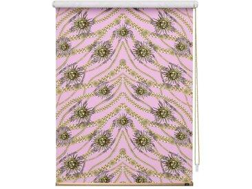 POMPÖÖS by Lichtblick Seitenzugrollo »Verdunkelungsrollo Klemmfix«, verdunkelnd, ohne Bohren, freihängend, bedruckt, rosa, rosa-goldfarben