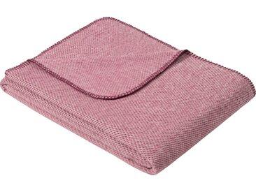 IBENA Wolldecke »Jacquard Decke Auckland«, GOTS zertifiziert, rosa, Mischgewebe, beere