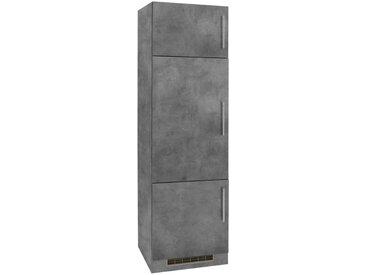 wiho Küchen Kühlumbauschrank »Cali« 60 cm breit, grau, Betonfarben/Betonfarben