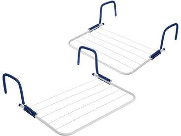 BigDean Balkonwäschetrockner »Wäschetrockner für Balkon, Heizung & Camping − Wäscheständer für Balkongeländer & Heizkörper«, 2 tlg.