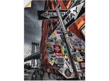 Artland Wandbild »New York Street Fotografie«, Amerika (1 Stück), Wandaufkleber - Vinyl