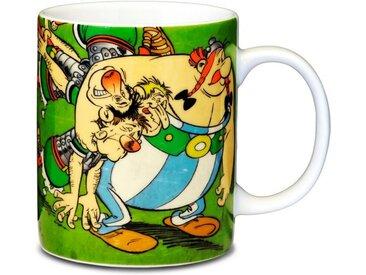 LOGOSHIRT Tasse mit tollem Helden-Print »Asterix & Obelix with Romans«, bunt, farbig