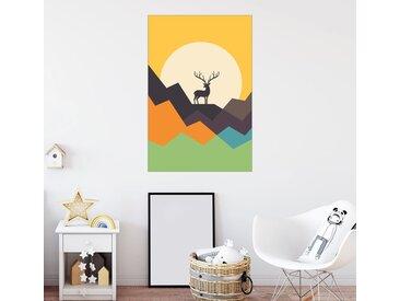 Posterlounge Wandbild, Hirsch, Premium-Poster
