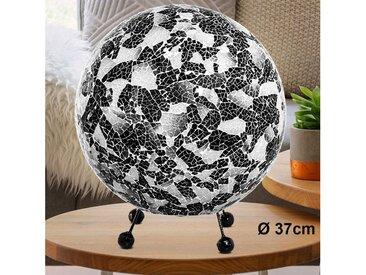 etc-shop Kugelleuchte, LED Tisch Leuchte Kugel Muschel Mosaik Wohn Zimmer Beistell Lese Lampe schwarz, Tischleuchte groß