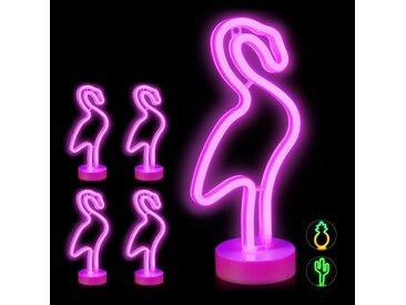 relaxdays LED Nachtlicht »5 x LED Neonlicht Flamingo«