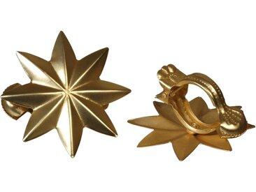 Liedeco Dekoklammer »Stern«, Gardinen, Vorhänge, (Packung, 2-St), für Gardinen, Vorhänge, goldfarben, goldfarben