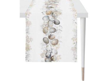APELT Tischläufer »6908 HAPPY EASTER« (1-tlg), Digitaldruck, natur, weiß-natur-hellbraun-anthrazit