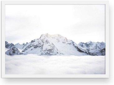 POSTORO Bild »Above The Clouds«, Weißer Holzrahmen, DIN A3